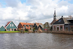 Medieval dutch village in the Netherlands. Medieval dutch village in the countryside from the Netherlands Stock Photo