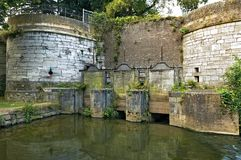 Medieval dutch water gate de Reek in Maastricht Stock Photo