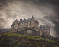 Medieval Edinburgh Castle Stock Image