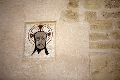 Medieval emblem in the Castle of Santa Bárbara, Stock Photos