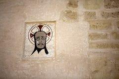 Medieval emblem in the Castle of Santa Bárbara, Stock Photos