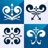 Medieval emblem ornament Royalty Free Stock Images