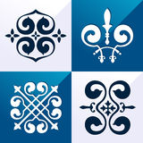 Medieval emblem ornament Stock Images