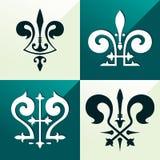 Medieval emblem ornament Stock Photo