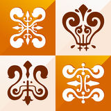 Medieval emblem ornament Royalty Free Stock Photos