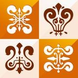 Medieval emblem ornament Royalty Free Stock Photos