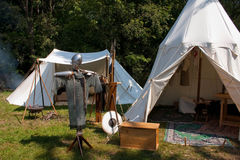 Medieval encampment. Faithful reconstruction of a medieval encampment Stock Photography