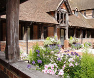 Medieval English Courtyard Garden and Cloister Stock Image