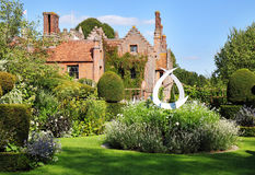 A Medieval English Manor and Garden Stock Photography