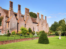 A Medieval English Manor and Garden Stock Photo