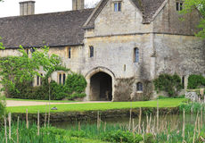 Medieval English Manor and Garden Stock Photo
