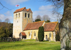 Medieval English Village Church and Tower Royalty Free Stock Photos