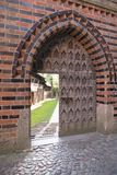Medieval entrance door Malbork Castle, Poland Royalty Free Stock Photography