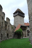 Medieval entrance tower Royalty Free Stock Image