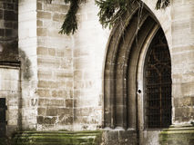 Medieval entrance in transilvania castle Stock Photography