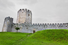Medieval era castle in South Europe. In Greece Royalty Free Stock Images