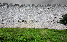 Medieval era castle in South Europe. (walls detail image Royalty Free Stock Image