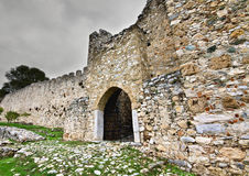 Medieval era castle in South Europe. In Greece Stock Image