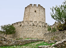 Medieval era castle in South Europe. At Greece Royalty Free Stock Images