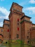 Medieval Estense Castle Ferrara Itay. Medieval Estense Castle in Ferrara Itay Royalty Free Stock Images