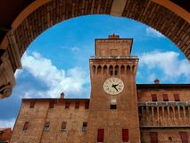 Medieval Estense Castle Ferrara Itay. Medieval Estense Castle in Ferrara Itay Stock Image