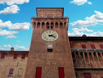 Medieval Estense Castle Ferrara Itay. Medieval Estense Castle in Ferrara Itay Royalty Free Stock Photo