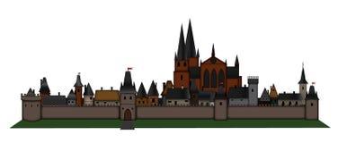 Medieval european city Stock Photo