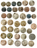 Medieval european coins of XVI c. Poland Royalty Free Stock Images