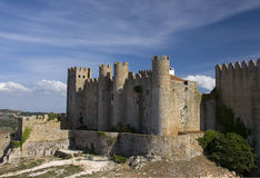 Medieval European Fortress with towers Stock Photo
