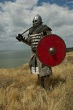 Medieval European knight. Medieval European heavy knight festival Stock Photography
