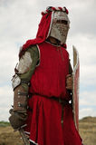 Medieval European knight. Medieval European heavy knight festival Royalty Free Stock Photography