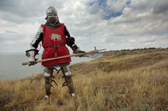 Medieval European knight Royalty Free Stock Photo