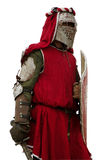 Medieval European knight isolated. Medieval European heavy knight festival isolated Stock Images