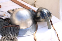 Medieval events. Italy weaponry battle Royalty Free Stock Photos