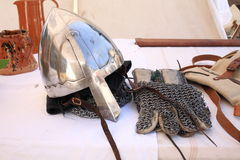 Medieval events. Italy weaponry battle Royalty Free Stock Photo