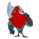 Medieval executioner ax character profession death penalty vector illustration