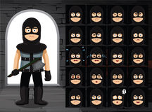 Medieval Executioner Cartoon Emotion Faces Vector Illustration Stock Photos