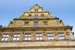 Medieval facade of the city of Rothenburg Stock Photos