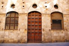 Medieval facade, Italy Stock Photography