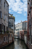 Medieval facade of the old building in Venice Stock Photo