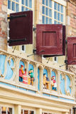 Medieval facade of an old house in the Dutch city of Gouda Stock Photo