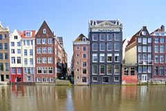 Medieval facades in Amsterdam Netherlands Stock Photos