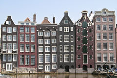 Medieval facades in Amsterdam Netherlands Royalty Free Stock Photos