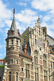Medieval facades in center of Brussels Royalty Free Stock Photography