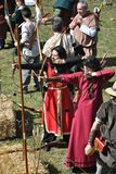 Medieval fair of hostalric Stock Photos