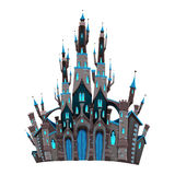 Medieval fantasy castle vector illustration