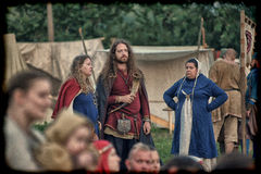 Medieval feast Stock Images