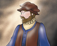Medieval fellow from Rumpelstiltskin fairy tale Stock Photo