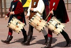 Medieval fest / drums Royalty Free Stock Photo