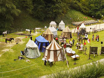 Medieval Camp Stock Images
